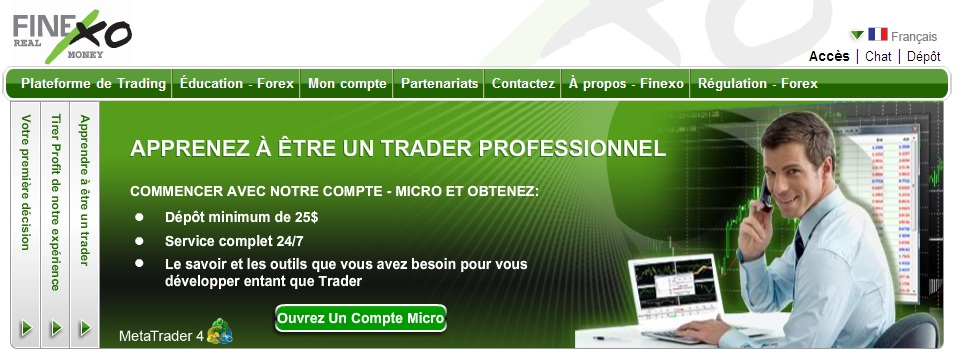 Finexo forex trade login